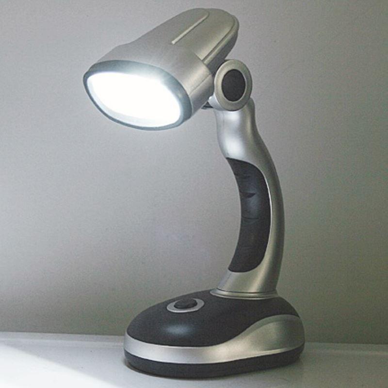 Luminária Abajur com Suporte para Mesa 12 LEDs  - Thata Esportes