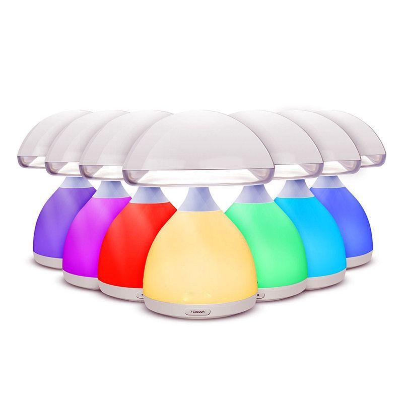 Luminária Cogumelo Lâmpada LED Cromoterapia 7 Cores sem fio  - Thata Esportes