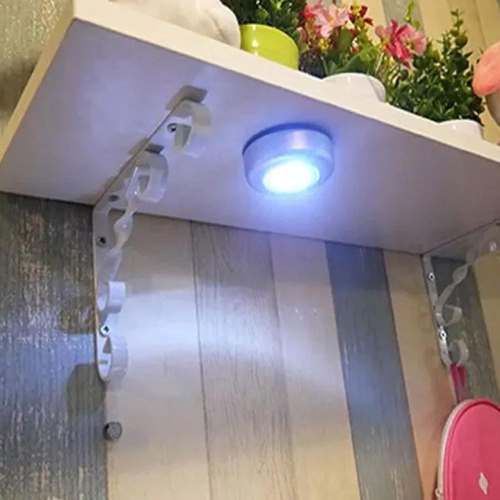 Luminária de Toque Redonda Emergência Prata 3W LED  - Mundo Thata