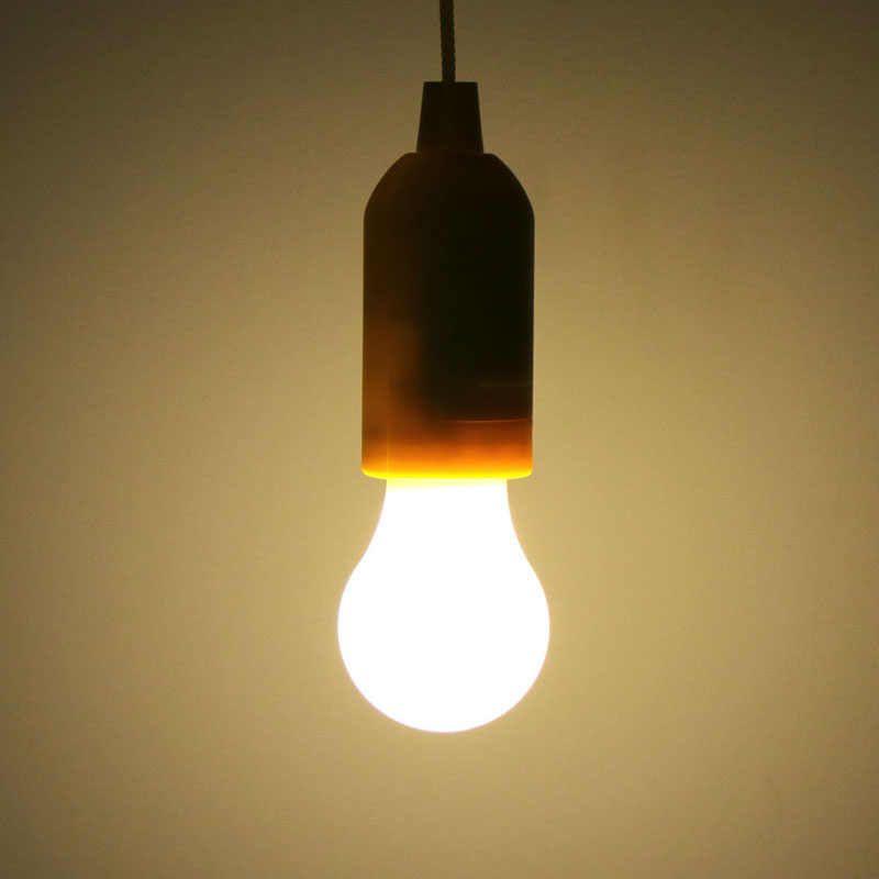 Luminária Lâmpada Portátil Corda de Puxar Camping Pesca Jardim Pilhas  - Thata Esportes