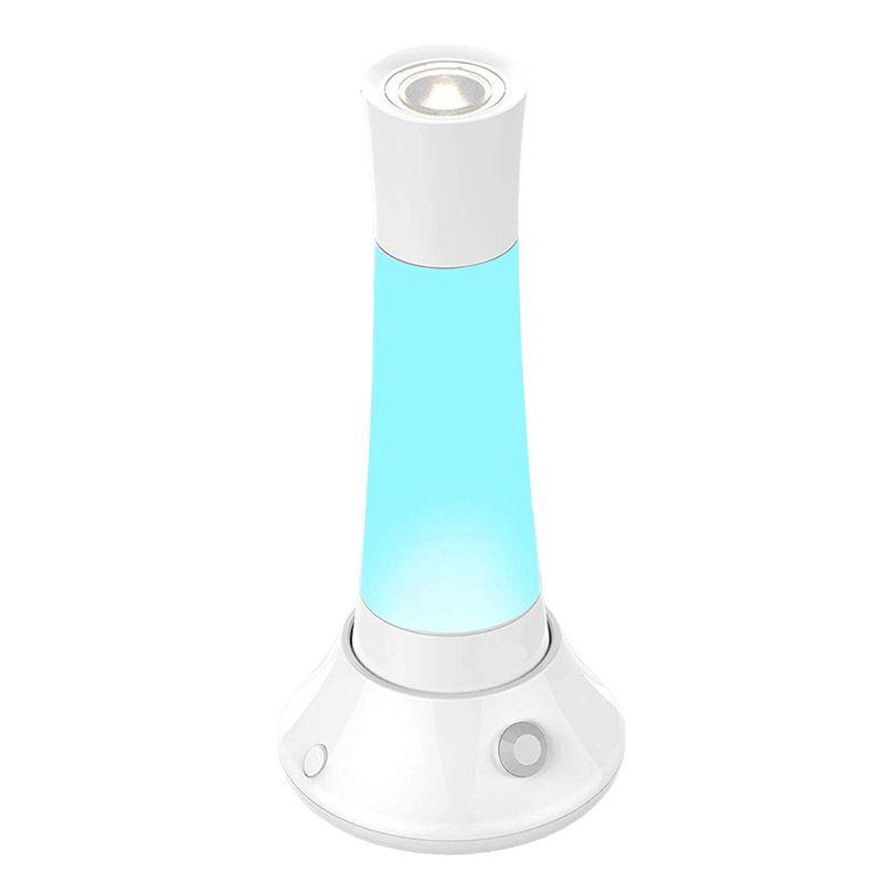 Luminária Lanterna Inteligente Luz Noturna Recarregável Indução SOS Strobo USB Casa Camping Trilha  - Thata Esportes