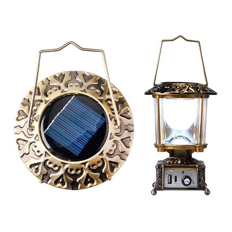 Luminária Retro Solar e Carregador de Celular   - Thata Esportes