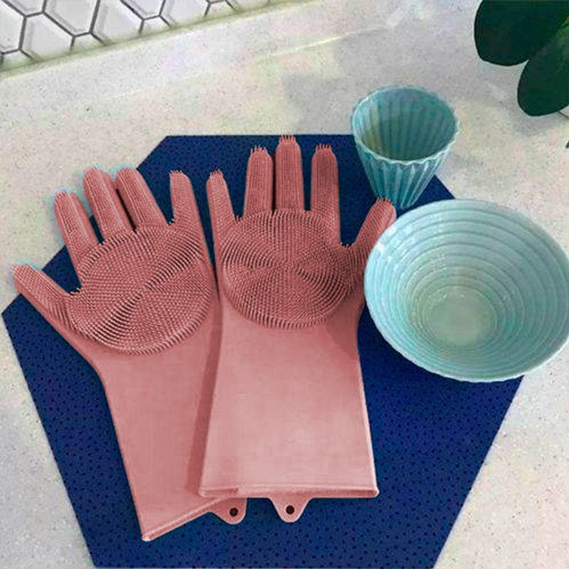 Luva Silicone Lava Louça Anti Térmica Vermelho  - Thata Esportes