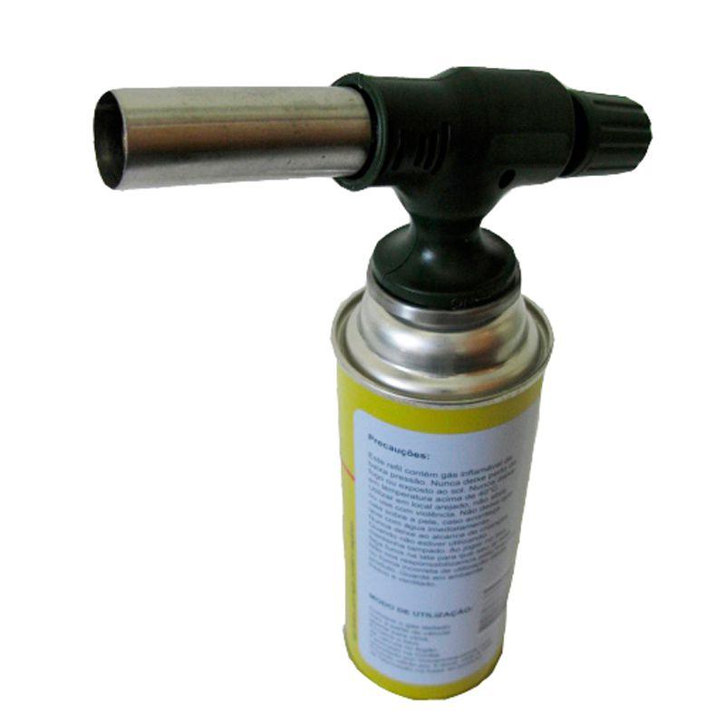 Maçarico Recarregável 609 - Uso direto no Cilindro  - Thata Esportes