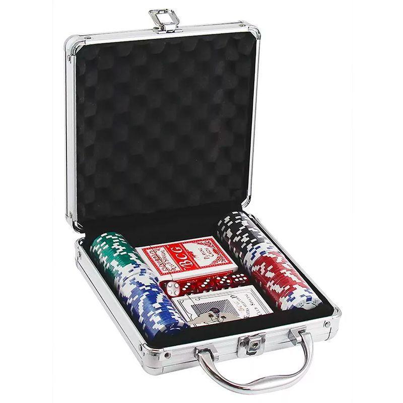 Maleta Poker Baralho 100 Fichas Western Games  - Thata Esportes