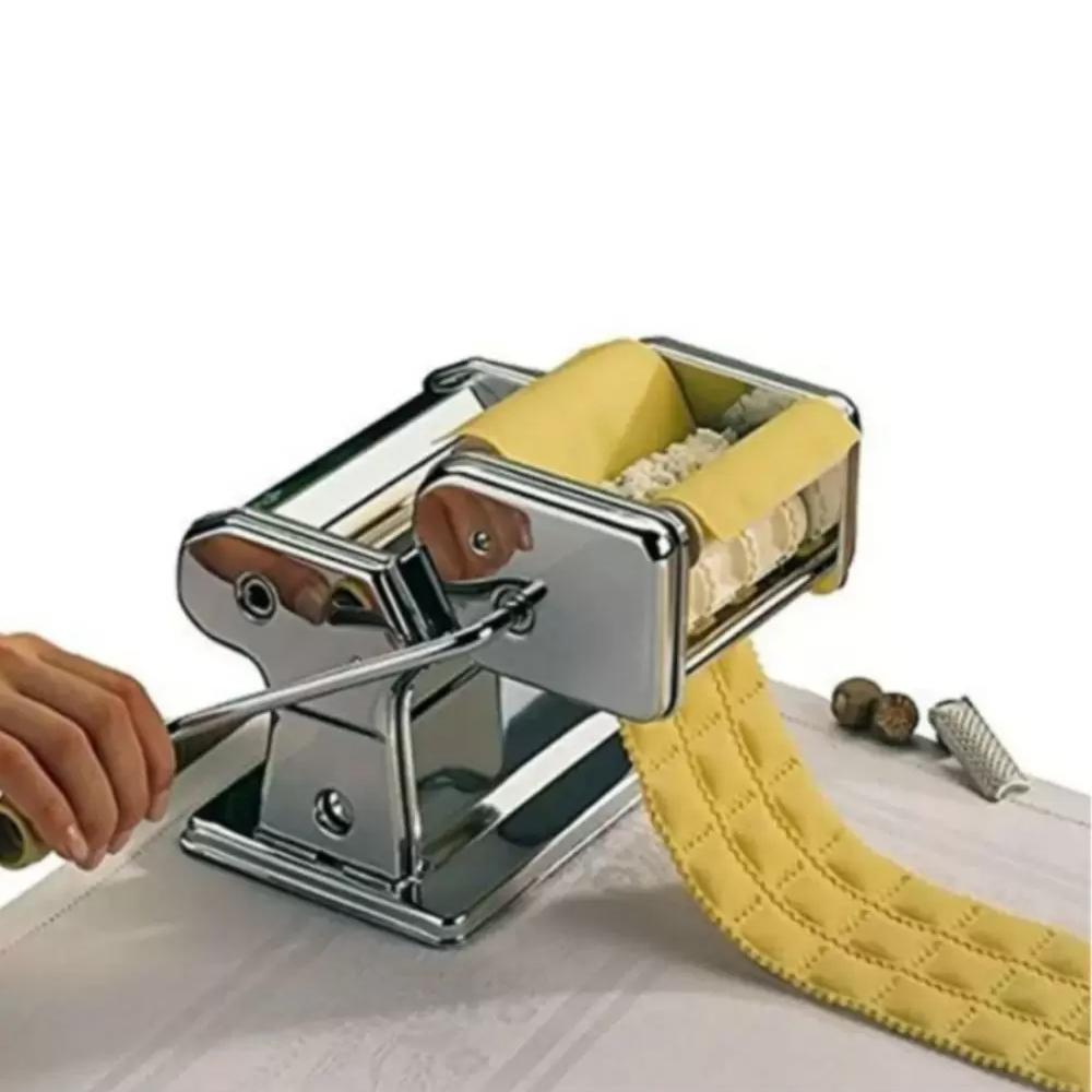 Máquina de Fazer Massas Lasanha Talharim Ravioli Espaguete  - Mundo Thata