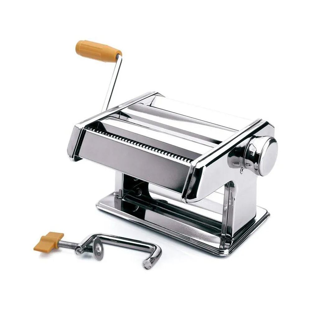 Máquina De Massa Caseira Aço Inox Lasanha Espaguete Talharim  - Mundo Thata
