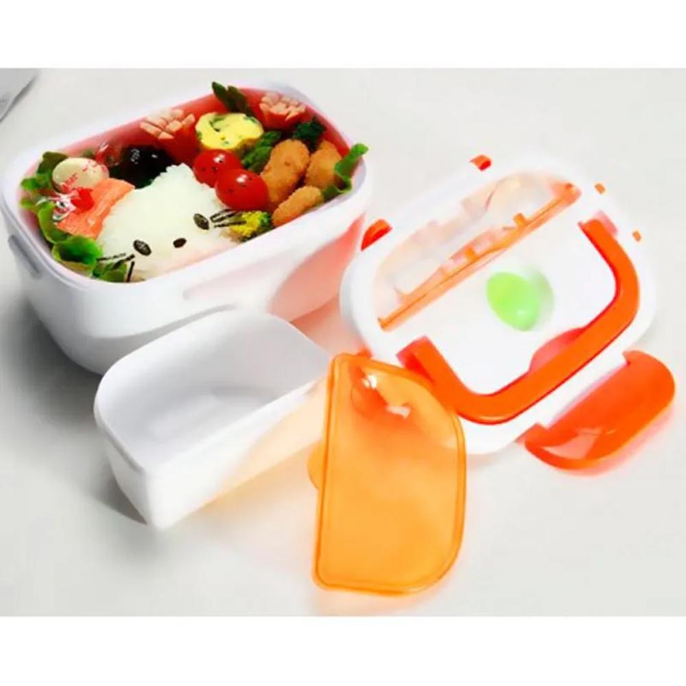 Marmita Elétrica com Divisória e Colher Lunch Box Bivolt  - Mundo Thata