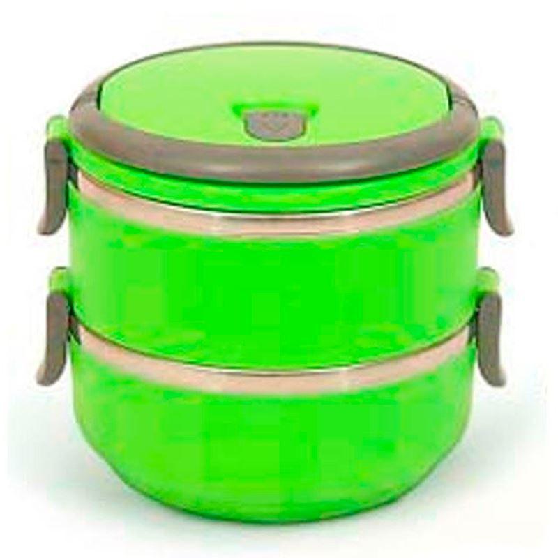 Marmita Lancheira Térmica Lunch Box Hermético 2 Compartimentos  - Thata Esportes