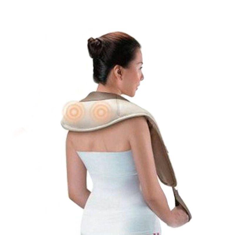 Massageador Cervical Ombro Lombar Massagem Relaxamento Multifuncional Elétrico Bivolt  - Mundo Thata