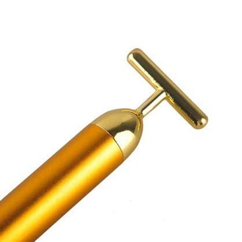 Massageador Facial Vibrador Harmonização Anti Rugas Gold Energy Beauty  - Mundo Thata