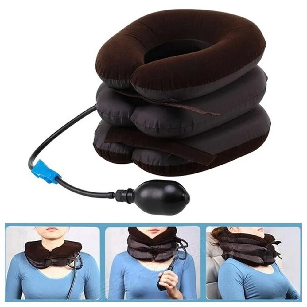 Massageador Inflável Pneumático Relaxamento Tração Cervical Pescoço Tamanho Universal  - Mundo Thata