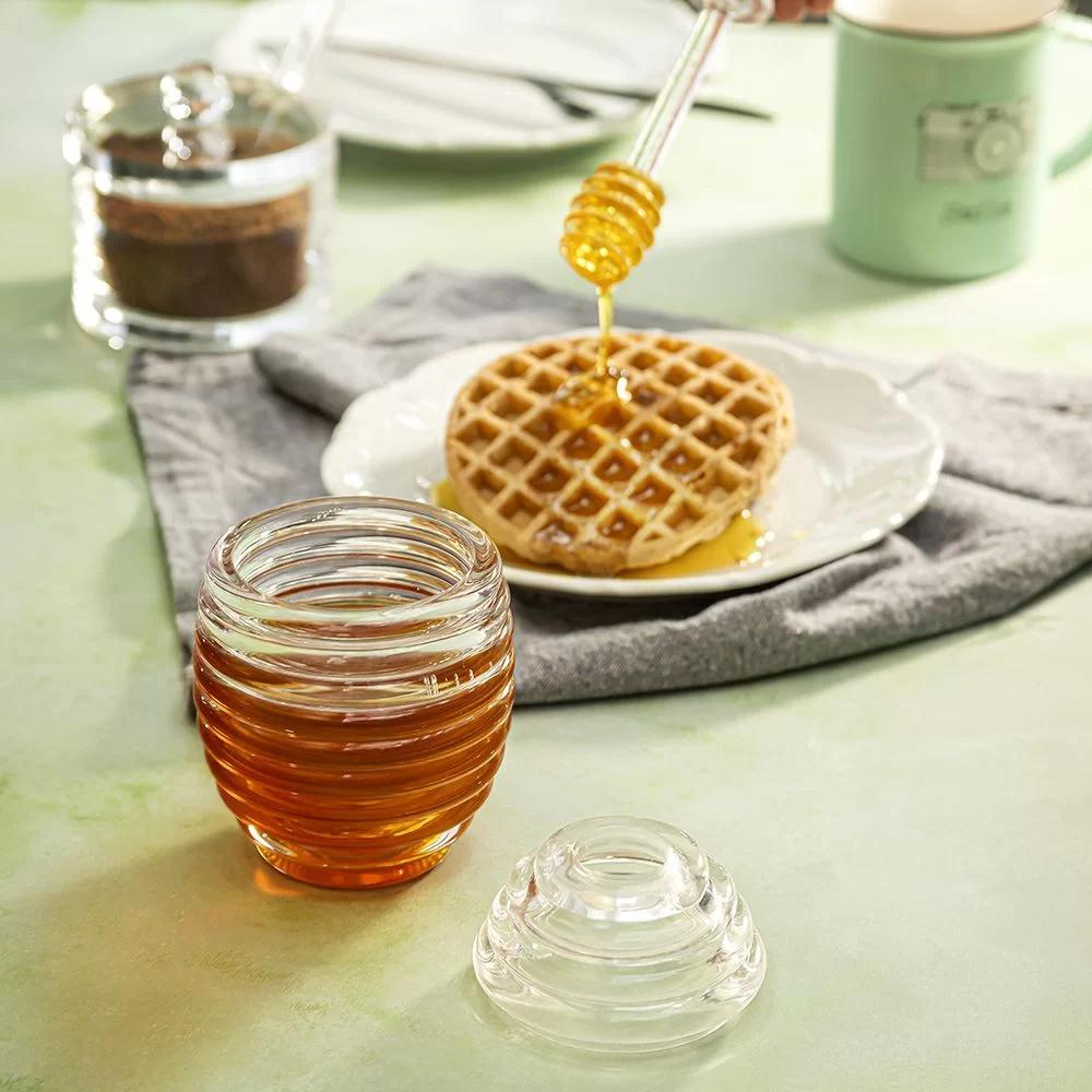 Meleira Porta Mel com Dosador Dispenser em Acrílico Honey Jar 200ml  - Mundo Thata