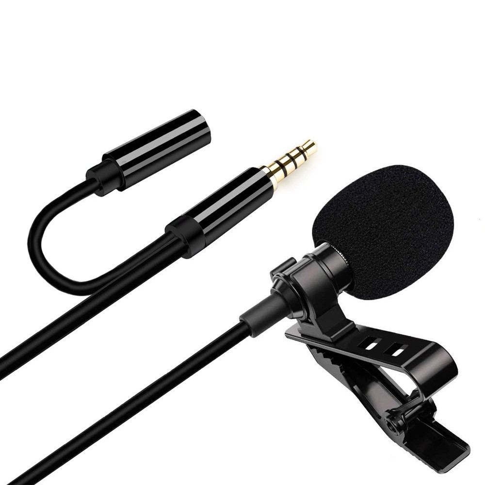 Microfone de Lapela com Clipe Profissional 3.5 Aux GL-142 Entrada Fone de Ouvido  - Mundo Thata