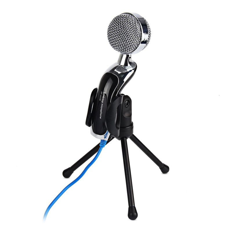 Microfone de Mesa Condensador Mic com Tripé SF-401  - Thata Esportes