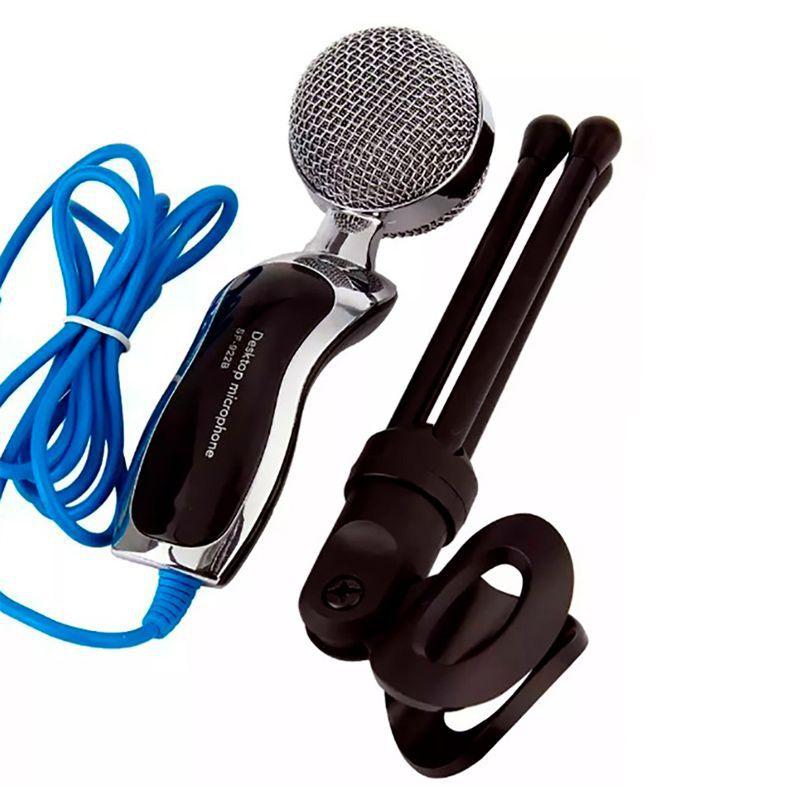 Microfone de Mesa Condensador Mic com Tripé SF-401  - Mundo Thata