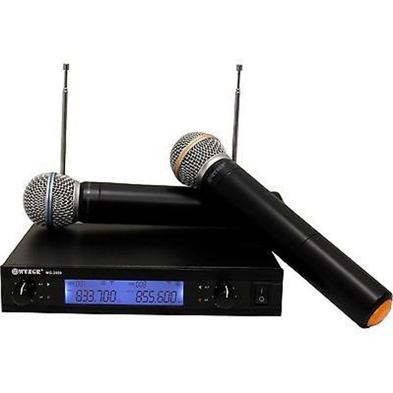 Microfone Sem Fio Profissional Wvngr WG2009 Uhf Mão Duplo  - Thata Esportes