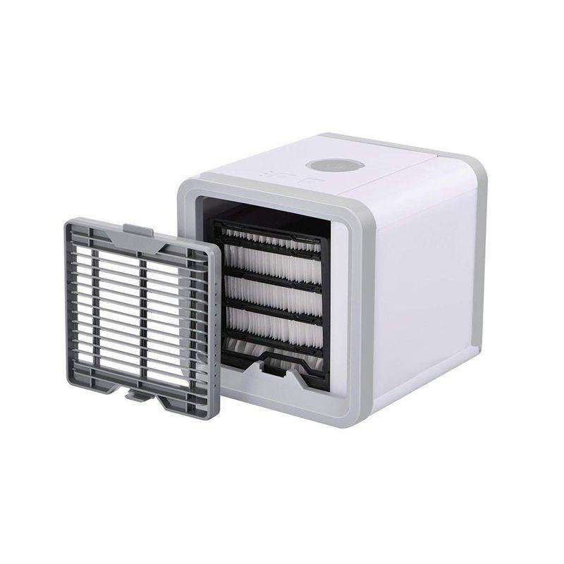 Mini Ar Condicionado Ventilador Portátil com Lâmpada Colorida USB  - Thata Esportes