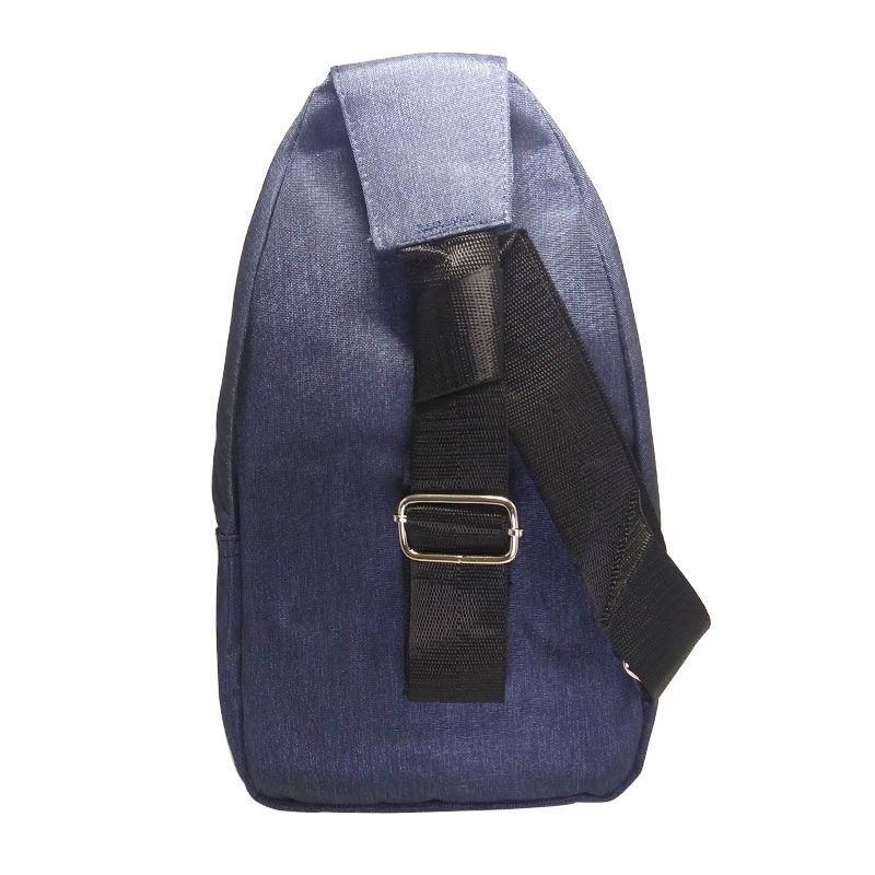 Mini Bolsa Mochila Transversal Cross Body Sport Alça Única Unissex Cadernos Tablet Smartphone Vários Bolsos Azul  - Mundo Thata