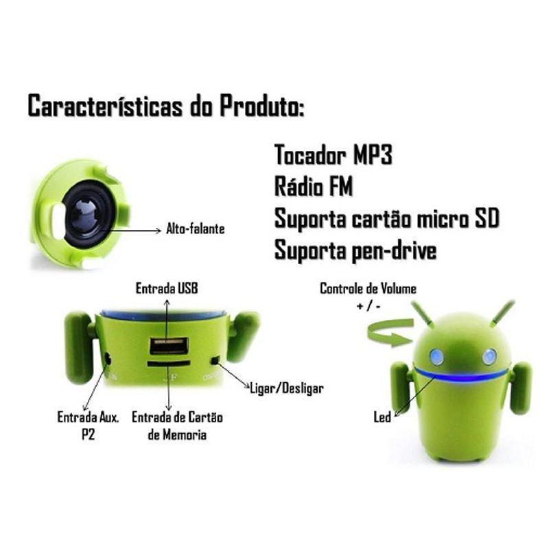 Mini Caixa Som Android MP3 FM Cartão de Memória - Frete Grátis  - Thata Esportes