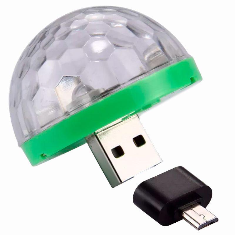 Mini Lâmpada Magic Ball LED RGB Globo Balada no Celular  - Mundo Thata