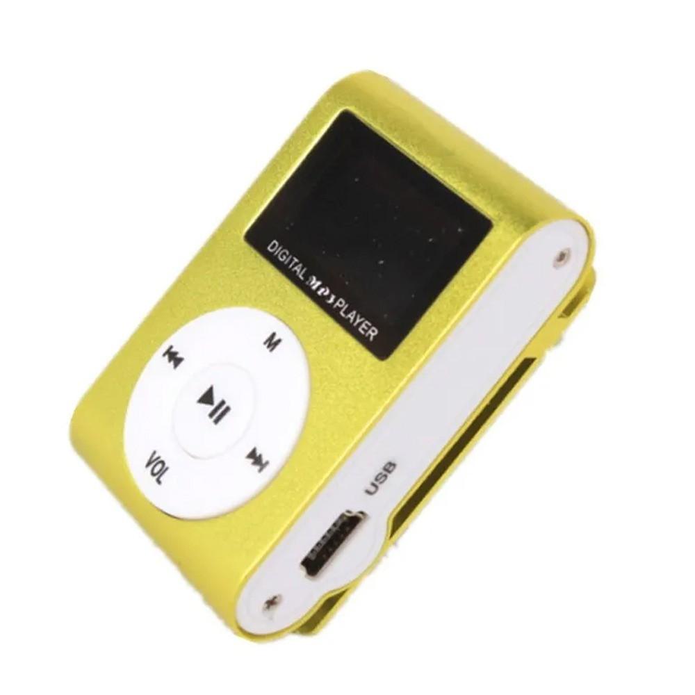 Mini MP3 Player Clip com Visor LCD USB Rádio AM/FM Cartão Micro SD  - Mundo Thata