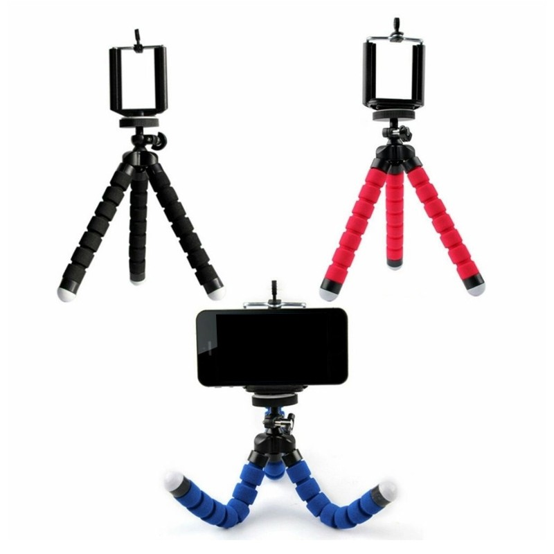 Mini Tripé Flexível Suporte Ajustável Universal Celular Câmera  - Thata Esportes