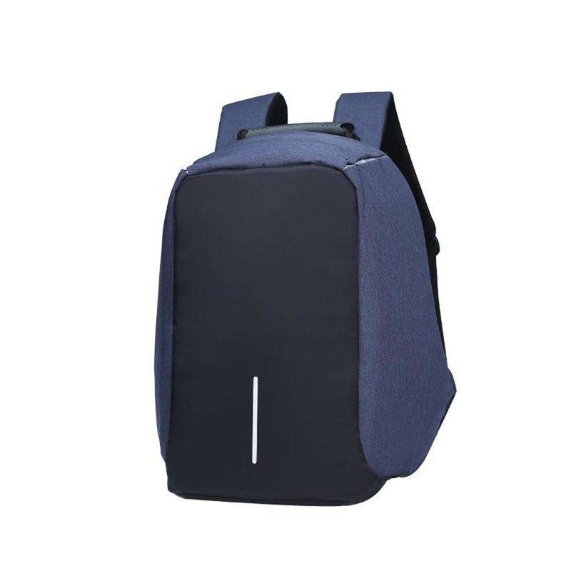 Mochila Anti-Furto Azul Compartimento Para Notebook Laptop Saída USB Carregamento De Dispositivos  - Thata Esportes