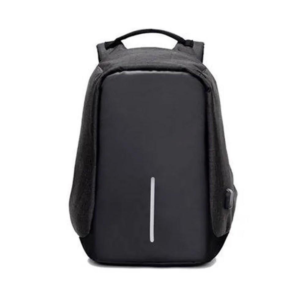 Mochila Anti-Furto Preta Compartimento Para Notebook Laptop Saída USB Carregamento De Dispositivos  - Mundo Thata