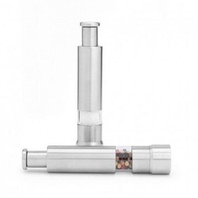Moedor Manual de Pimenta Sal Aço Inox Prático 15 cm  - Mundo Thata