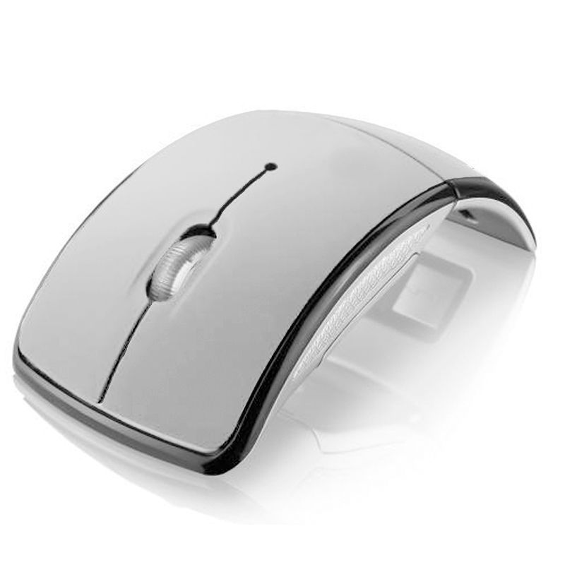 Mouse em Arco Dobrável Sem Fio Wireless  2.4 Ghz  1600 DPi  - Mundo Thata