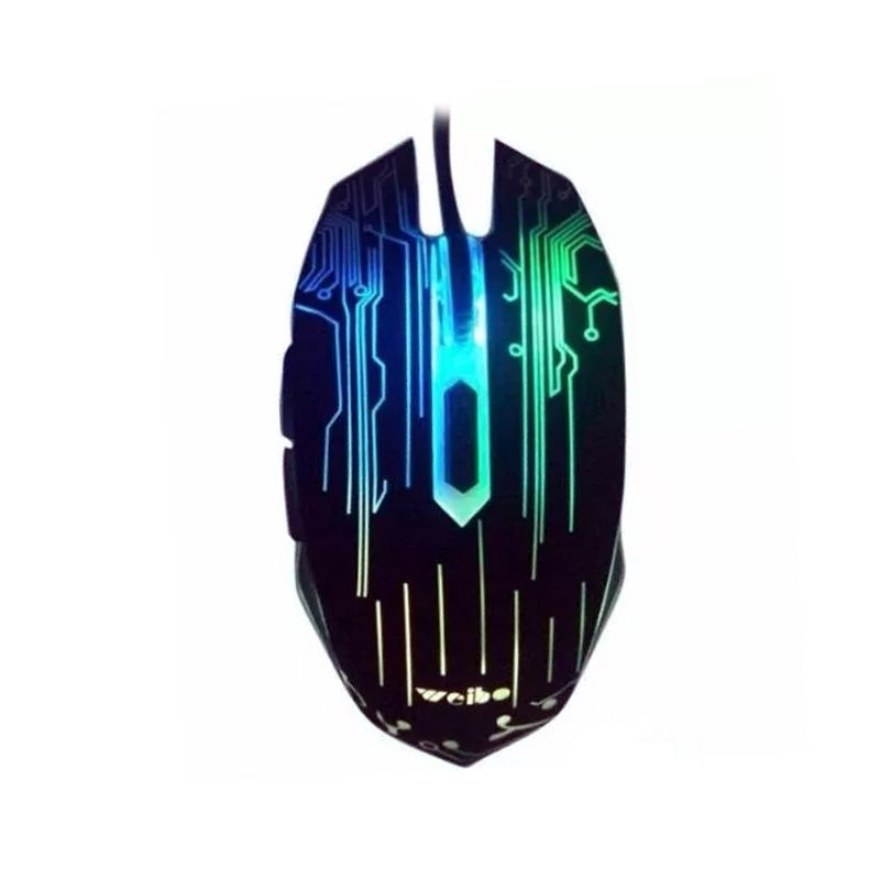 Mouse Gamer Weibo WB-1670 LED PC Notebook 3200 DPI  - Thata Esportes