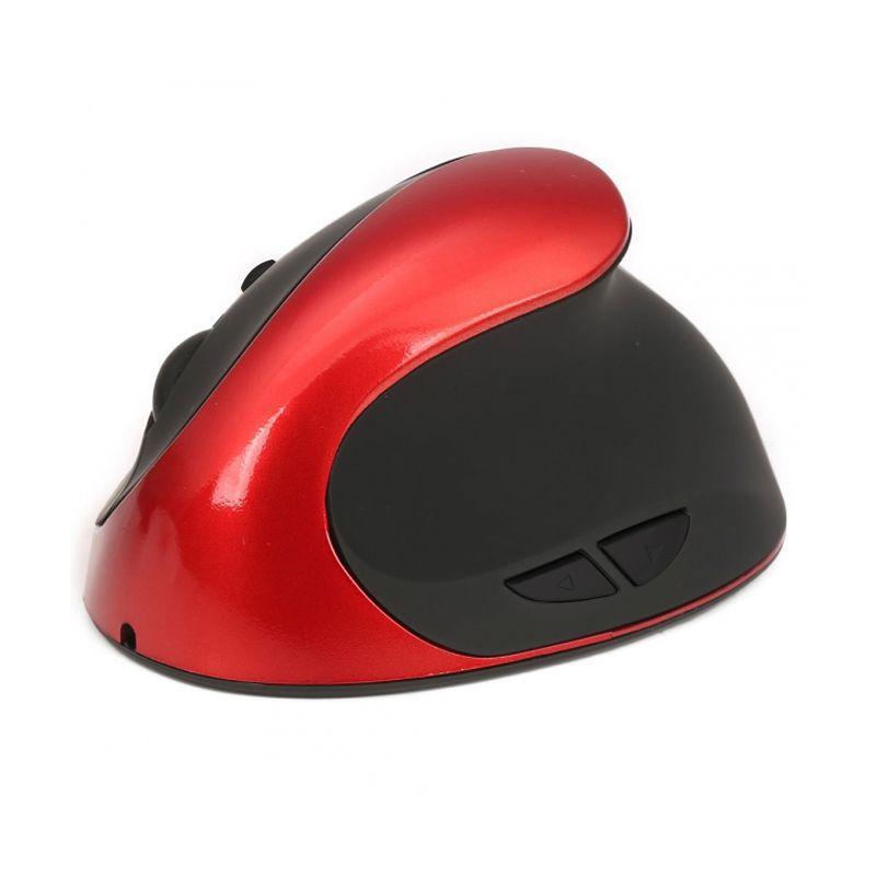 Mouse Óptico Vertical Ergonômico Sem Fio Carregamento Wireless Previne Tendinite Ajuste de Velocidades 2  - Mundo Thata