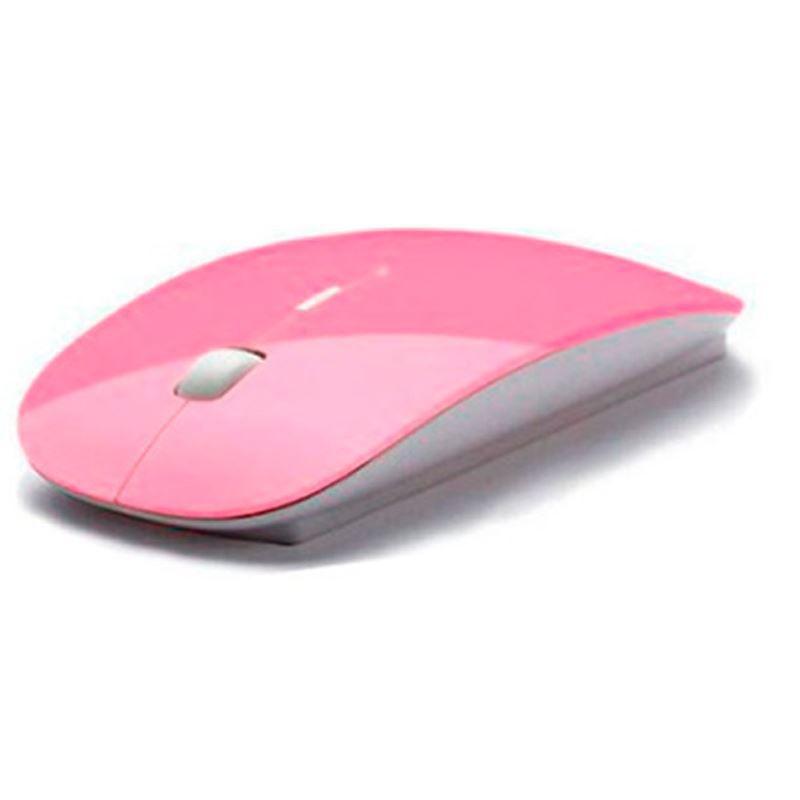 Mouse Wireless Ultra Fino Colorido  - Thata Esportes