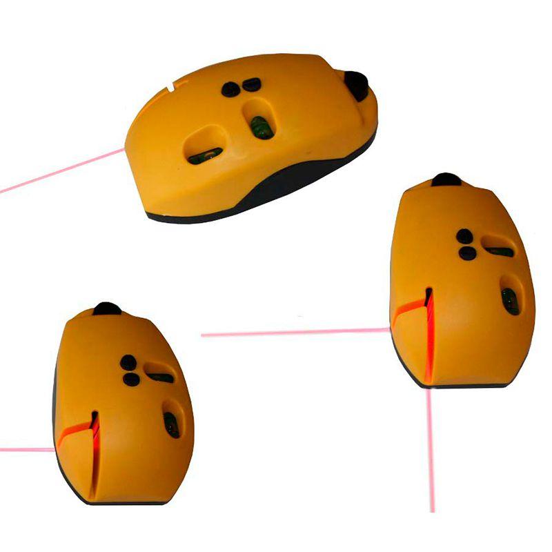 Nível a Laser com Esquadro Feixe Horizontal e Vertical com Duas Bolhas  - Thata Esportes