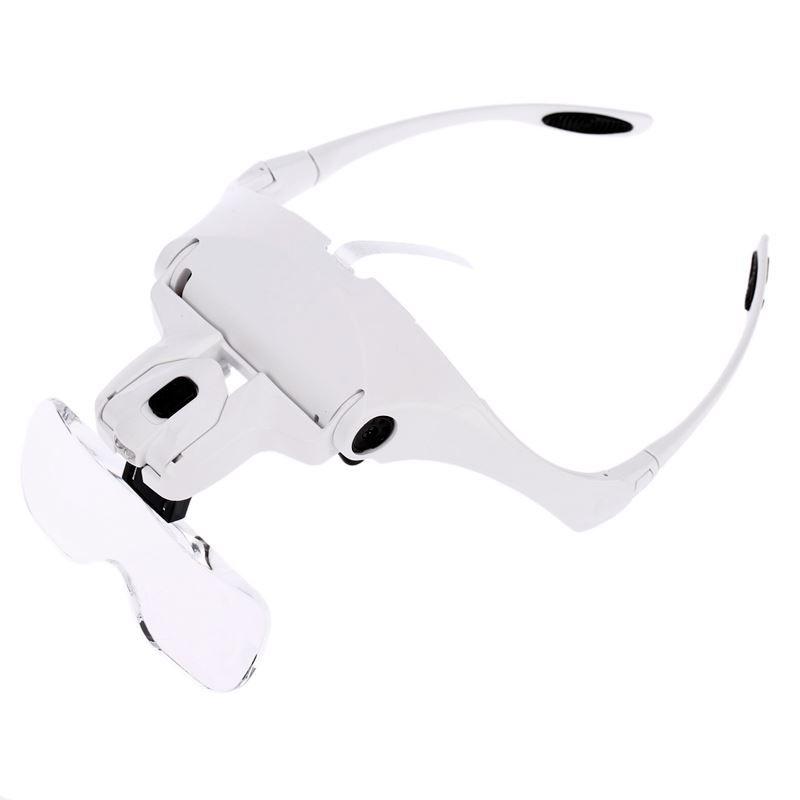 Óculos Lupa de Cabeça Profissional 5 Lentes  - Thata Esportes