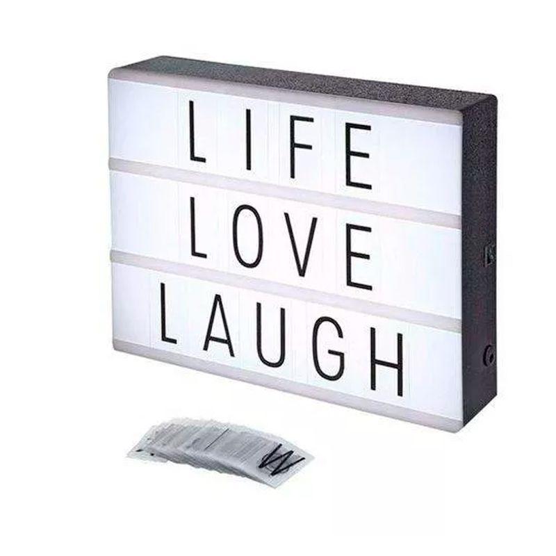Painel Luminoso Lightbox Quadro Letras Cinema Médio 20 cm  - Mundo Thata