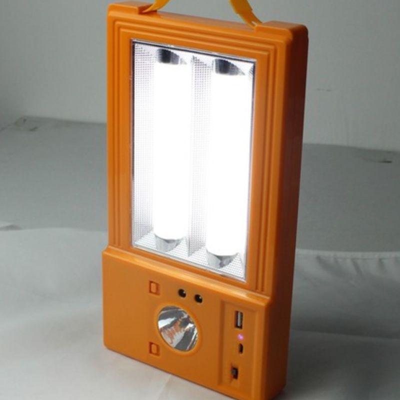 Painel Solar Multiuso Holofote Lanterna Luminária Ventilador PowerBank Camping Pescaria  - Thata Esportes