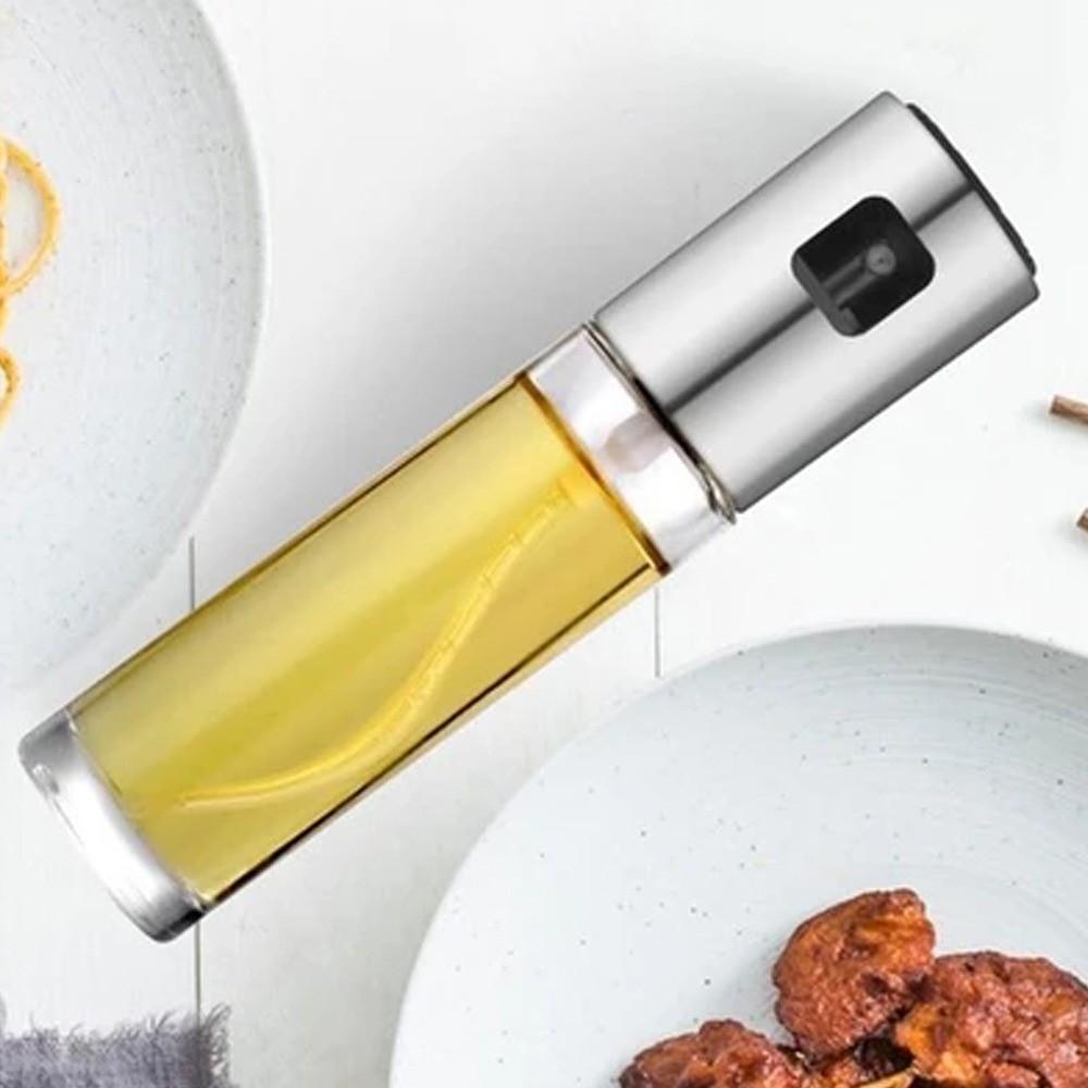 Porta Azeite Vinagre Spray Galheteiro Dosador Aço Inox Chef 100ml  - Mundo Thata