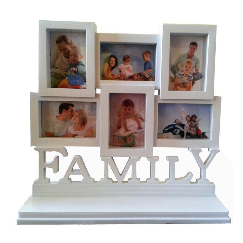 Porta Retrato Family Branco 6 fotos - Frete Grátis  - Thata Esportes