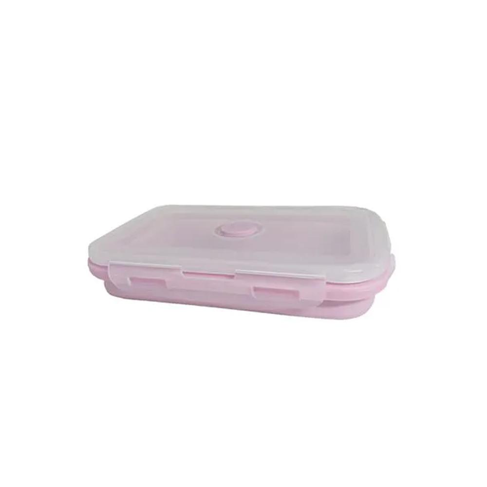 Pote Marmita Retrátil Silicone Pequeno Rosa  - Mundo Thata