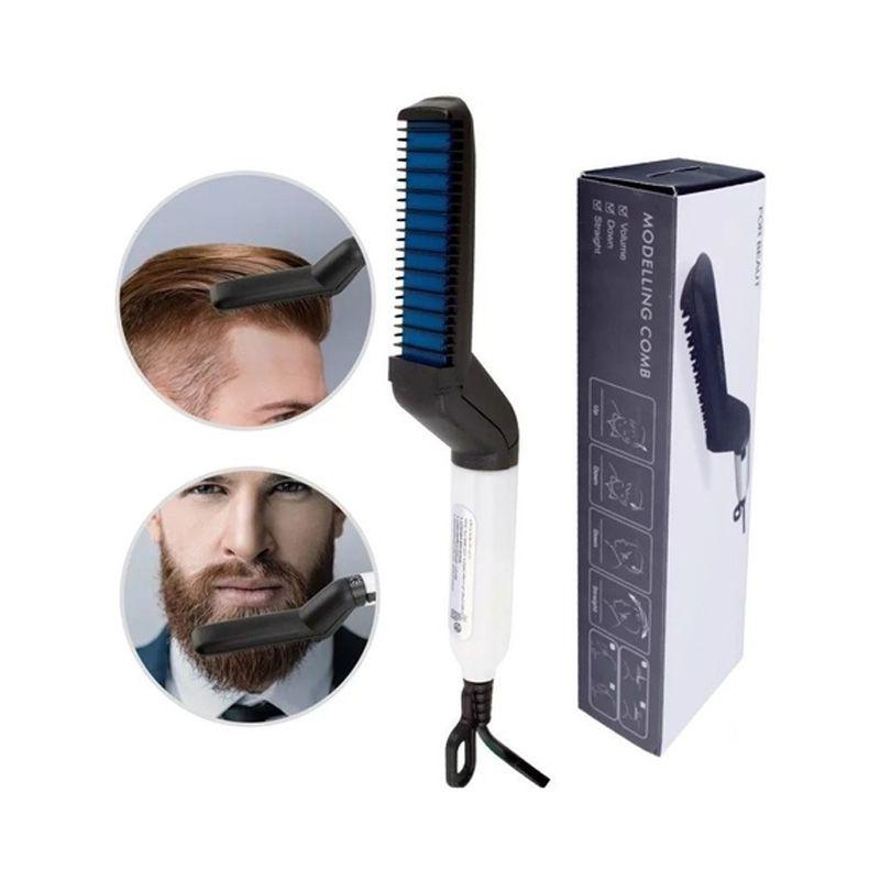 Prancha Alisamento Chapinha Barba Cabelo Barbeiro   - Mundo Thata
