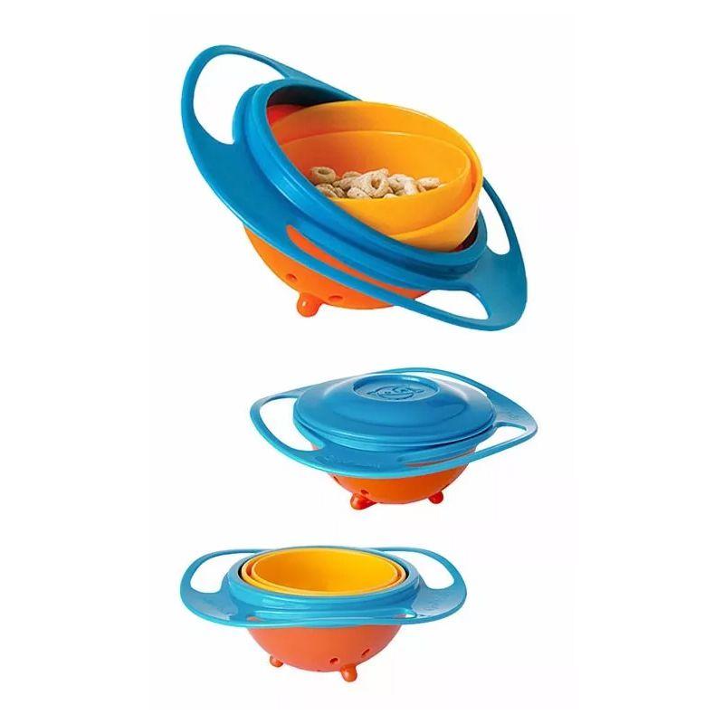 Prato Giratório Infantil Bebê Pratinho Mágico 360 Não Derrama A Comida Gyro Bowl  - Mundo Thata