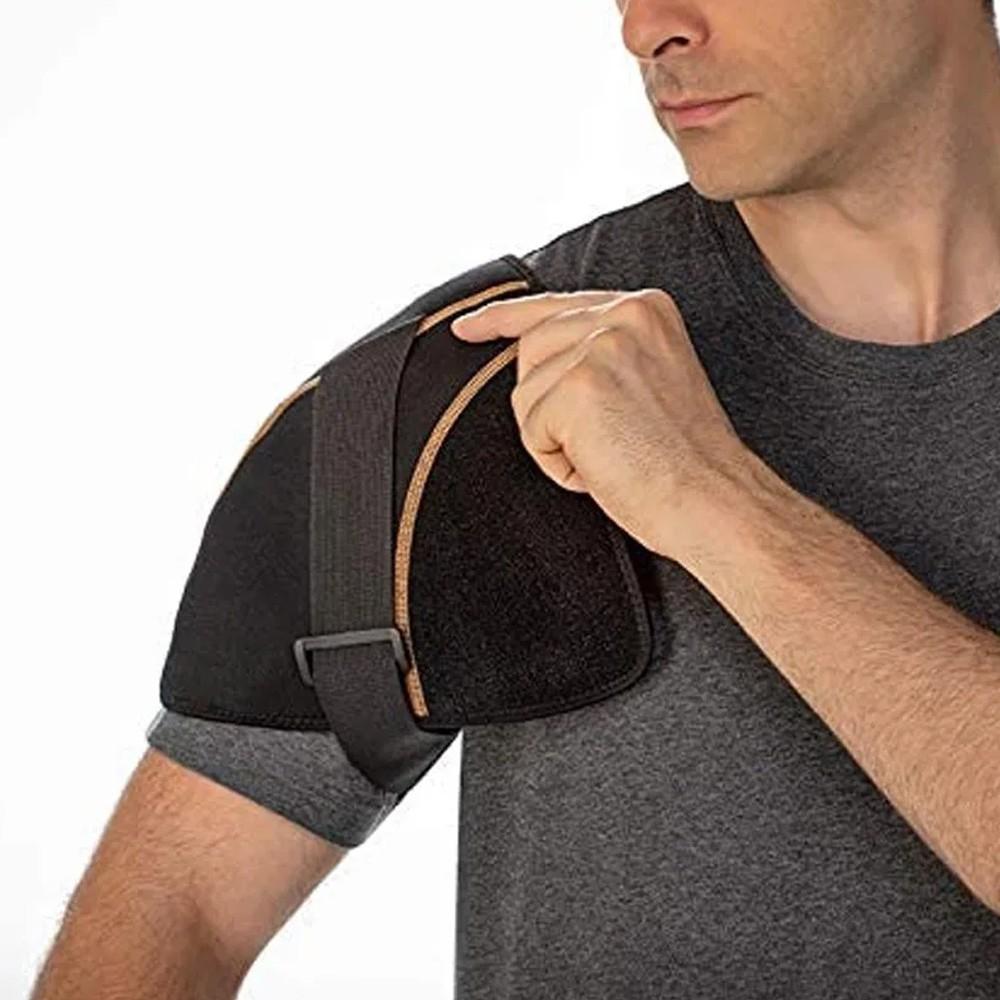 Protetor Esquenta Ombro Alívio Rápido Recuperação Ajustável Unissex  - Mundo Thata