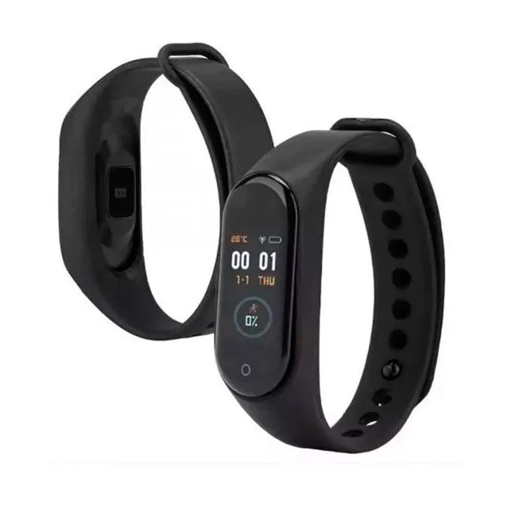 Pulseira Bracelete Smartband M4 Monitor Cardíaco Relógio Inteligente Smartwatch  - Mundo Thata