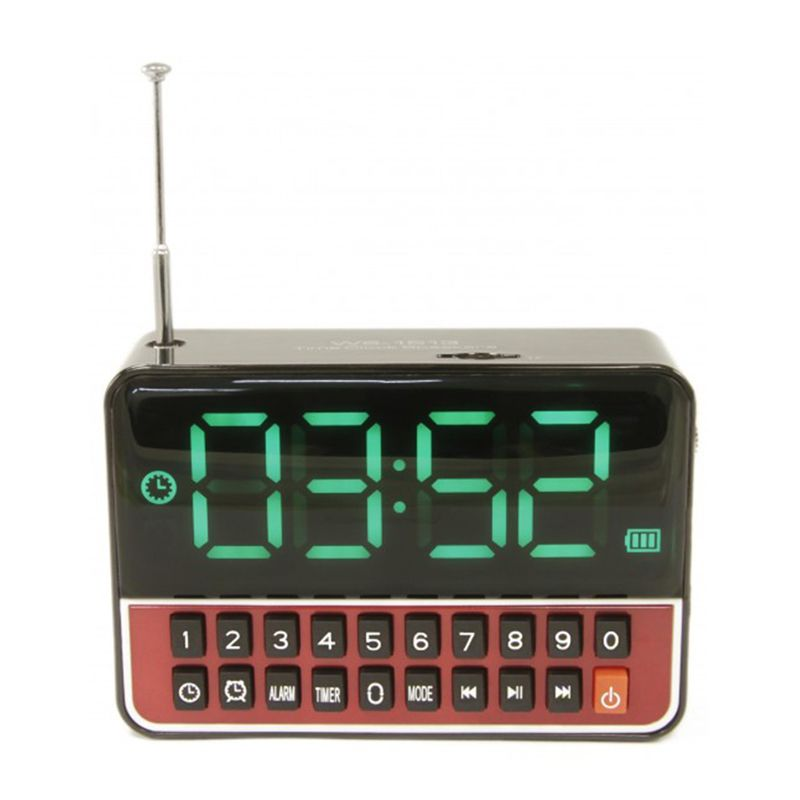 Rádio Relógio Despertador com MP3 Recarregável  - Thata Esportes