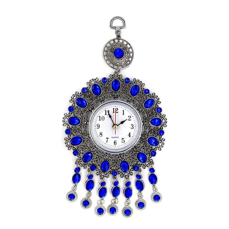 Relógio Analógico de Parede Decorativo Mistico Pedras Azuis  - Thata Esportes
