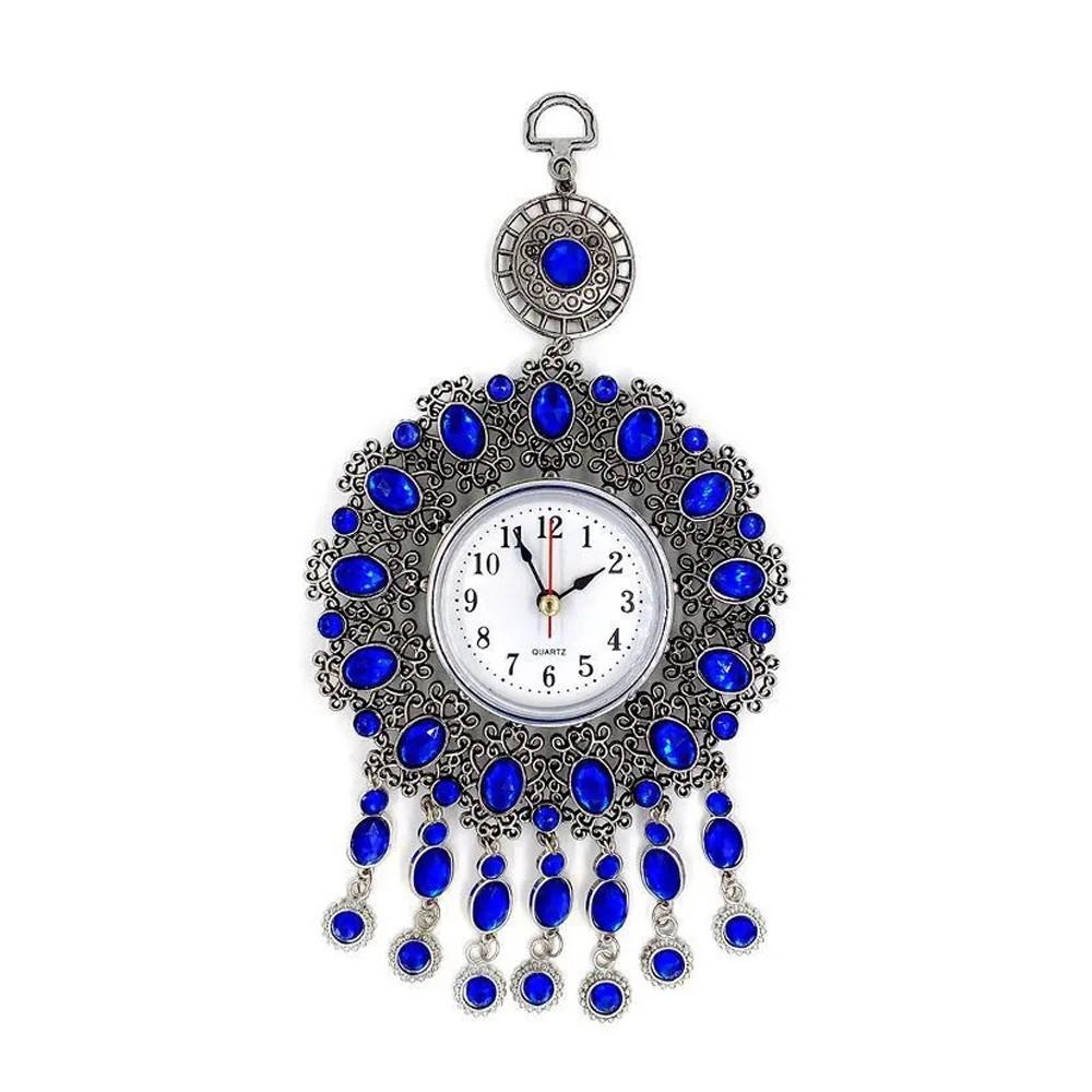 Relógio Analógico de Parede Decorativo Mistico Pedras Azuis  - Mundo Thata