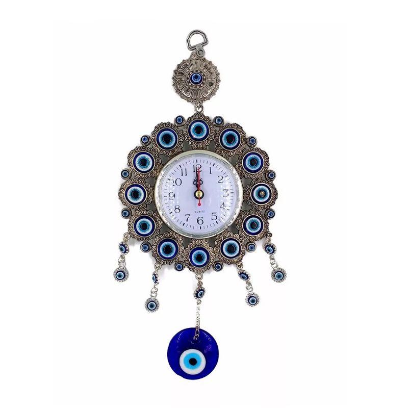 Relógio Analógico de Parede Olho Grego  - Thata Esportes