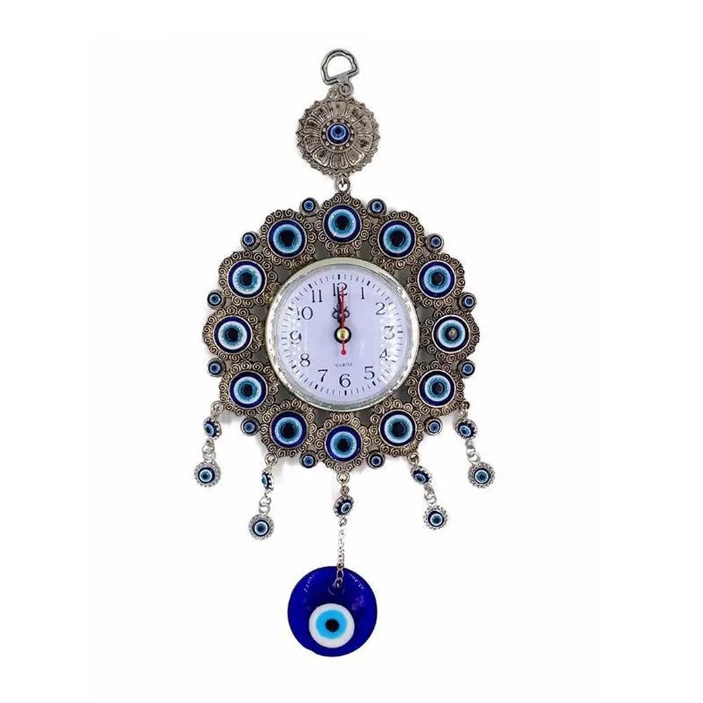 Relógio Analógico de Parede Olho Grego  - Mundo Thata
